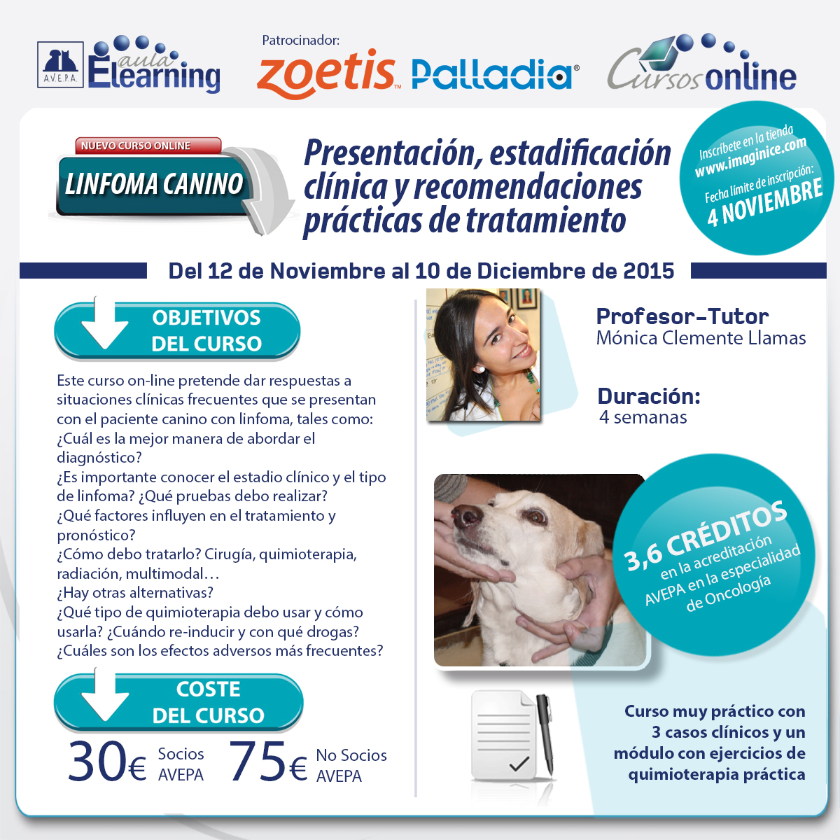 Redes sociales curso online Linfoma canino